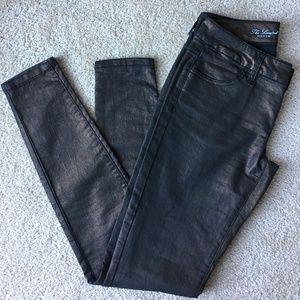 Metallic Copper Skinny Jeans